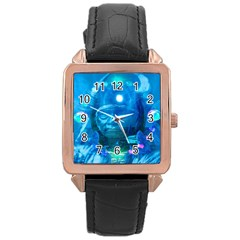 Magician  Rose Gold Leather Watch