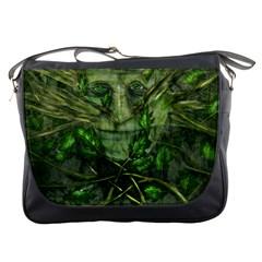 Green Man Messenger Bag