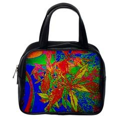 Sun Coleus Enhanced Classic Handbag (one Side)