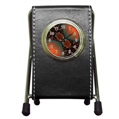 Elegant Delight Stationery Holder Clock