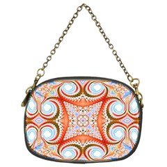 Fractal Abstract  Chain Purse (two Sided)