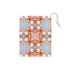 Fractal Abstract  Drawstring Pouch (Small)