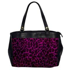 Pink Leopard  Oversize Office Handbag (one Side)