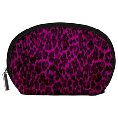 Pink Leopard  Accessory Pouch (Large)
