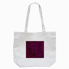 Pink Leopard  Tote Bag (White)
