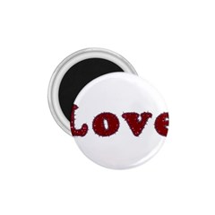 Love Typography Text Word 1 75  Button Magnet