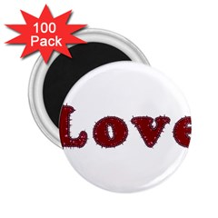 Love Typography Text Word 2.25  Button Magnet (100 pack)