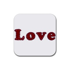 Love Typography Text Word Drink Coaster (square)