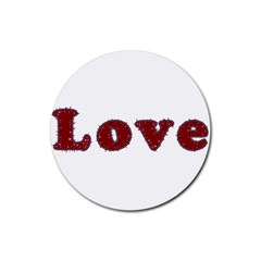 Love Typography Text Word Drink Coasters 4 Pack (round)
