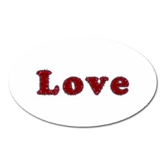 Love Typography Text Word Magnet (oval)