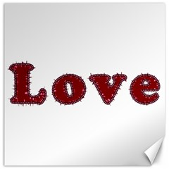 Love Typography Text Word Canvas 20  x 20  (Unframed)