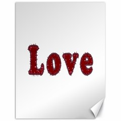 Love Typography Text Word Canvas 18  x 24  (Unframed)