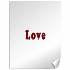 Love Typography Text Word Canvas 36  X 48  (unframed)