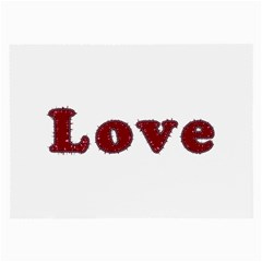 Love Typography Text Word Glasses Cloth (Large, Two Sided)