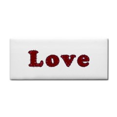 Love Typography Text Word Hand Towel