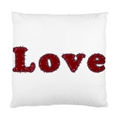 Love Typography Text Word Cushion Case (two Sided)
