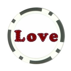Love Typography Text Word Poker Chip (10 Pack)