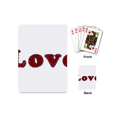 Love Typography Text Word Playing Cards (mini)