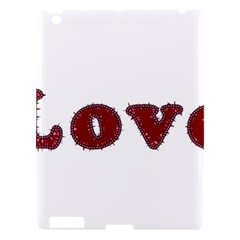 Love Typography Text Word Apple Ipad 3/4 Hardshell Case