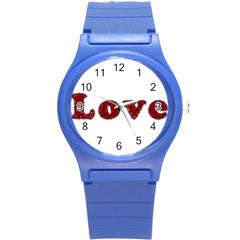 Love Typography Text Word Plastic Sport Watch (Small)