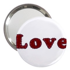 Love Typography Text Word 3  Handbag Mirror