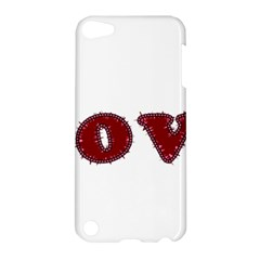 Love Typography Text Word Apple Ipod Touch 5 Hardshell Case