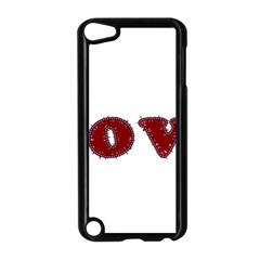 Love Typography Text Word Apple iPod Touch 5 Case (Black)