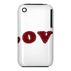 Love Typography Text Word Apple iPhone 3G/3GS Hardshell Case (PC+Silicone)