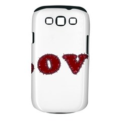 Love Typography Text Word Samsung Galaxy S III Classic Hardshell Case (PC+Silicone)