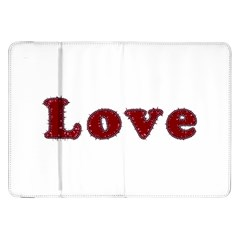 Love Typography Text Word Samsung Galaxy Tab 8.9  P7300 Flip Case