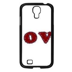 Love Typography Text Word Samsung Galaxy S4 I9500/ I9505 Case (black)