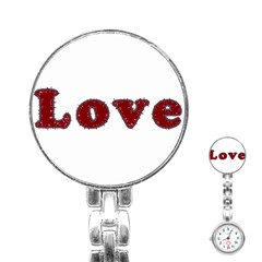 Love Typography Text Word Stainless Steel Nurses Watch