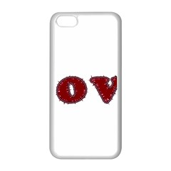 Love Typography Text Word Apple iPhone 5C Seamless Case (White)