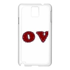 Love Typography Text Word Samsung Galaxy Note 3 N9005 Case (White)