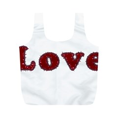 Love Typography Text Word Reusable Bag (M)