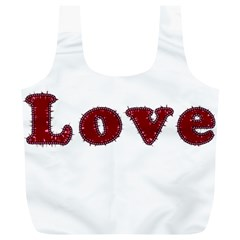 Love Typography Text Word Reusable Bag (XL)