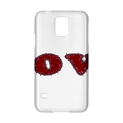 Love Typography Text Word Samsung Galaxy S5 Hardshell Case