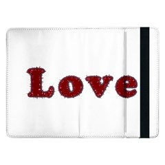 Love Typography Text Word Samsung Galaxy Tab Pro 12 2  Flip Case