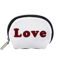 Love Typography Text Word Accessory Pouch (Small)