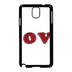 Love Typography Text Word Samsung Galaxy Note 3 Neo Hardshell Case (Black)
