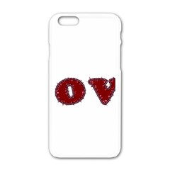 Love Typography Text Word Apple Iphone 6 White Enamel Case