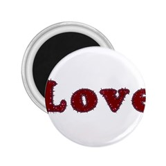 Love Typography Text Word 2 25  Button Magnet