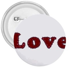 Love Typography Text Word 3  Button