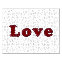 Love Typography Text Word Jigsaw Puzzle (rectangle)