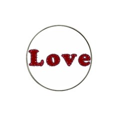Love Typography Text Word Golf Ball Marker (for Hat Clip)