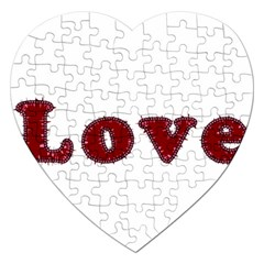 Love Typography Text Word Jigsaw Puzzle (heart)