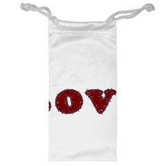 Love Typography Text Word Jewelry Bag