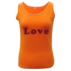 Love Typography Text Word Women s Tank Top (dark Colored)