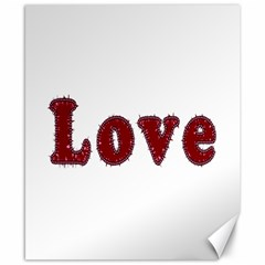 Love Typography Text Word Canvas 8  x 10  (Unframed)