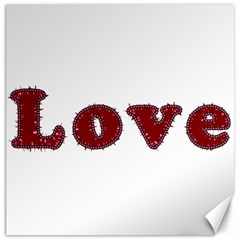 Love Typography Text Word Canvas 12  X 12  (unframed)